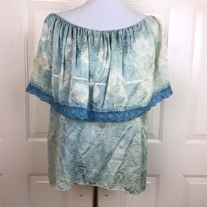 Le Shack by Tracy Feith Women's Blue Green Paisley